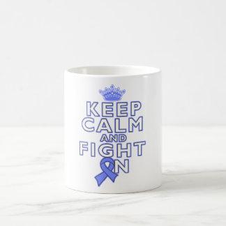 Esophageal Cancer Keep Calm Fight On Coffee Mug