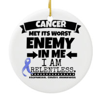 Esophageal Cancer Met Its Worst Enemy in Me Ceramic Ornament