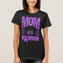 Esophageal Cancer Mom Of Warrior Autism Awareness T-Shirt