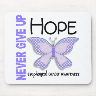 Esophageal Cancer Never Give Up Hope Butterfly 4.1 Mouse Pad