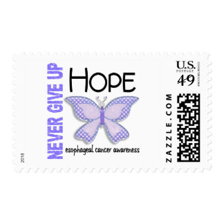 Esophageal Cancer Never Give Up Hope Butterfly 4.1 Stamp