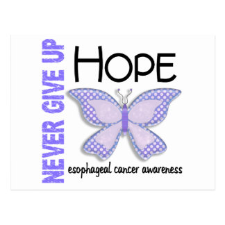 Esophageal Cancer Never Give Up Hope Butterfly 4.1 Postcard