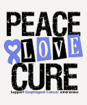 Esophageal Cancer Peace Love Cure Tees
