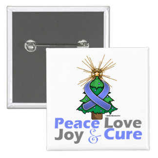 Esophageal Cancer Peace Love Joy Cure Pinback Buttons