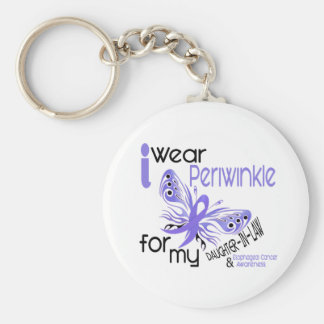 Esophageal Cancer PERIWINKLE FOR DAUGHTER-IN-LAW Basic Round Button Keychain