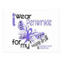Esophageal Cancer PERIWINKLE FOR DAUGHTER-IN-LAW Postcard