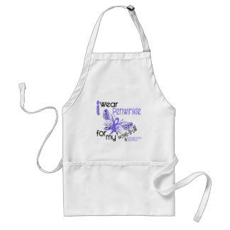 Esophageal Cancer PERIWINKLE FOR MY BROTHER-IN-LAW Adult Apron
