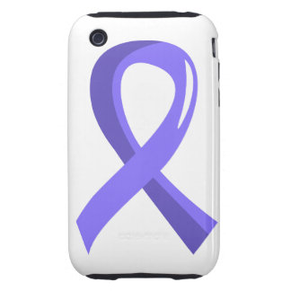 Esophageal Cancer Periwinkle Ribbon 3 Tough iPhone 3 Case