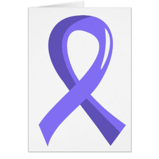 Esophageal Cancer Periwinkle Ribbon 3 Greeting Card