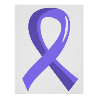 Esophageal Cancer Periwinkle Ribbon 3 Poster