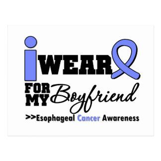 Esophageal Cancer Periwinkle Ribbon Boyfriend Postcard