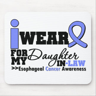 Esophageal Cancer Periwinkle Ribbon Daughter-in-La Mouse Pad