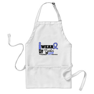 Esophageal Cancer Periwinkle Ribbon Father-in-Law Adult Apron