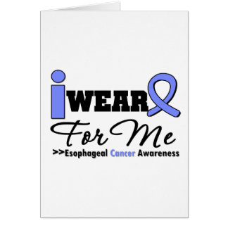 Esophageal Cancer Periwinkle Ribbon For Me Greeting Cards
