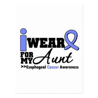 Esophageal Cancer Periwinkle Ribbon For My Aunt Post Card