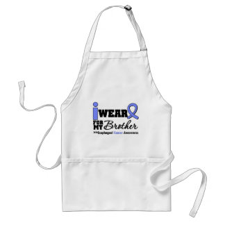 Esophageal Cancer Periwinkle Ribbon For My Brother Adult Apron
