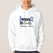 Esophageal Cancer Periwinkle Ribbon For My Daddy Hooded Sweatshirt