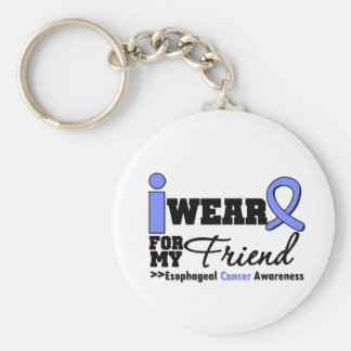 Esophageal Cancer Periwinkle Ribbon For My Friend Basic Round Button Keychain