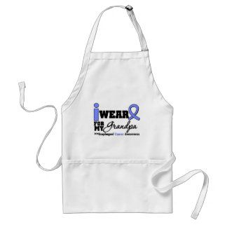 Esophageal Cancer Periwinkle Ribbon For My Grandpa Adult Apron