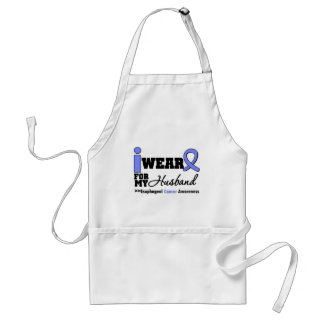 Esophageal Cancer Periwinkle Ribbon For My Husband Adult Apron