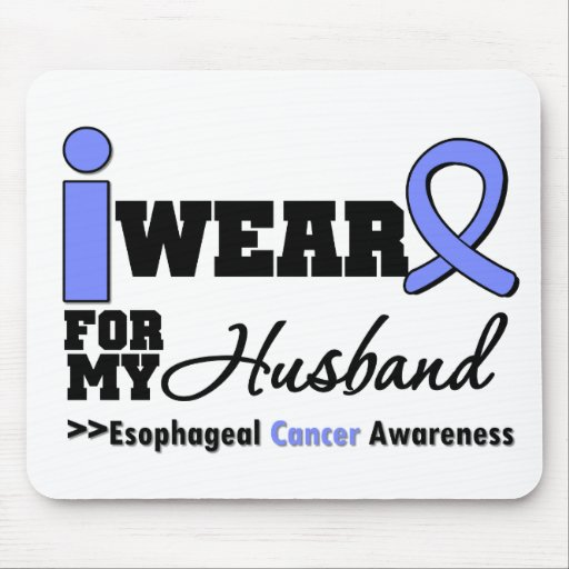 Esophageal Cancer Periwinkle Ribbon For My Husband Mouse Mat
