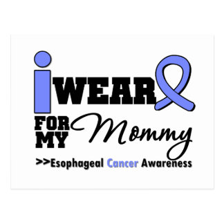 Esophageal Cancer Periwinkle Ribbon For My Mommy Post Cards