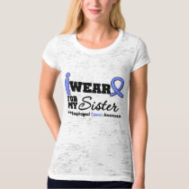 Esophageal Cancer Periwinkle Ribbon For My Sister Tee Shirt