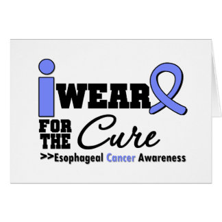 Esophageal Cancer Periwinkle Ribbon For The Cure Greeting Card