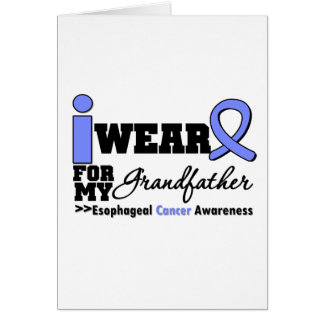 Esophageal Cancer Periwinkle Ribbon Grandfather Greeting Card