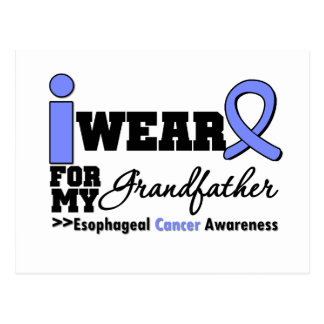 Esophageal Cancer Periwinkle Ribbon Grandfather Post Cards