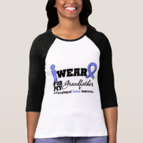 Esophageal Cancer Periwinkle Ribbon Grandfather Tee Shirts