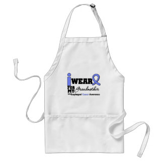 Esophageal Cancer Periwinkle Ribbon Grandmother Adult Apron