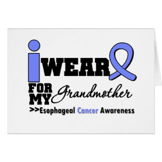 Esophageal Cancer Periwinkle Ribbon Grandmother Cards