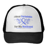 Esophageal Cancer Periwinkle Ribbon Husband Trucker Hat