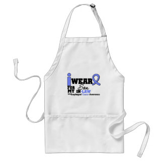 Esophageal Cancer Periwinkle Ribbon My Son-in-Law Adult Apron