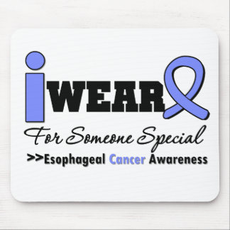 Esophageal Cancer Periwinkle Ribbon Special Mouse Pad