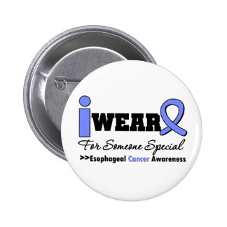 Esophageal Cancer Periwinkle Ribbon Special Pinback Button