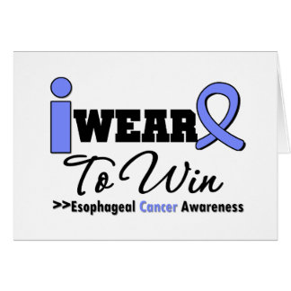 Esophageal Cancer Periwinkle Ribbon To Win Greeting Cards