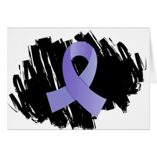 Esophageal Cancer Periwinkle Ribbon With Scribble Greeting Card