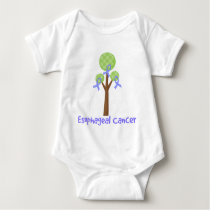 Esophageal Cancer Periwinkle Tree Baby Bodysuit