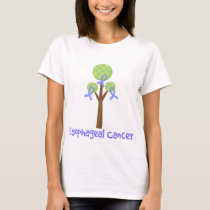 Esophageal Cancer Periwinkle Tree T-Shirt