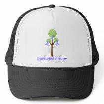 Esophageal Cancer Periwinkle Tree Trucker Hat