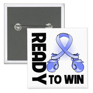 Esophageal Cancer Ready To Win 2 Inch Square Button