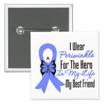Esophageal Cancer Ribbon Hero My Best Friend 2 Inch Square Button