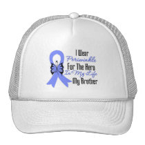 Esophageal Cancer Ribbon Hero My Brother Mesh Hats