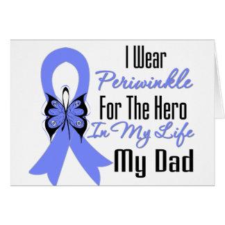 Esophageal Cancer Ribbon Hero My Dad Greeting Card