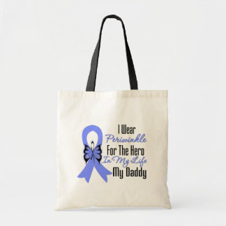 Esophageal Cancer Ribbon Hero My Daddy Tote Bag