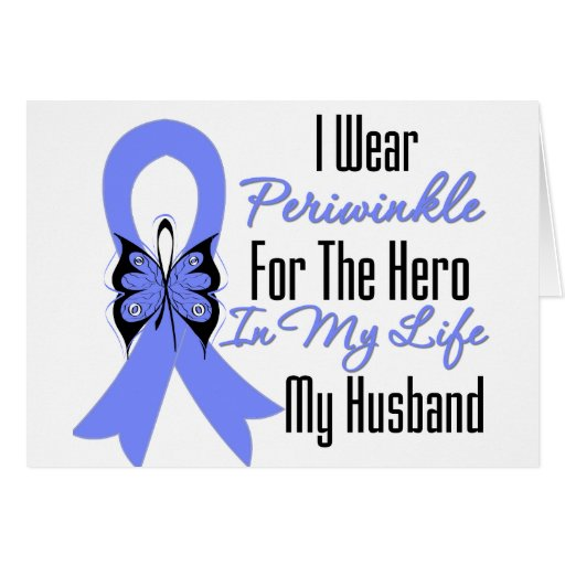 Esophageal Cancer Ribbon Hero My Husband Cards