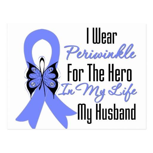 Esophageal Cancer Ribbon Hero My Husband Postcard