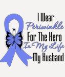 Esophageal Cancer Ribbon Hero My Husband T-shirt